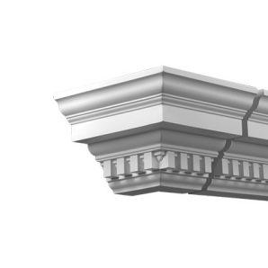 Внешний угол фасадного карниза Европласт 4.32.212 фото
