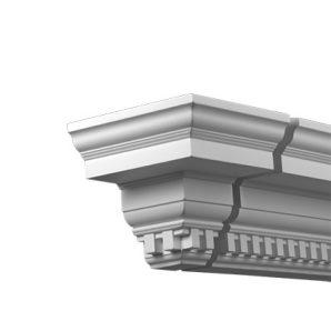 Внешний угол фасадного карниза Европласт 4.32.331 фото