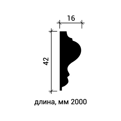 Молдинг для стены Европласт 1.51.301 фото (3)