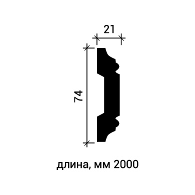 Молдинг для стены Европласт 1.51.309 фото (3)