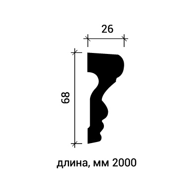 Молдинг для стены Европласт 1.51.354 фото (3)