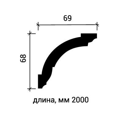 Потолочный плинтус Европласт 1.50.101 фото (3)