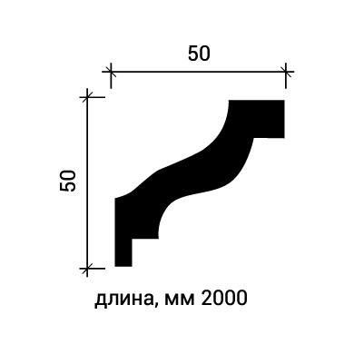 Потолочный плинтус Европласт 1.50.103 фото (3)