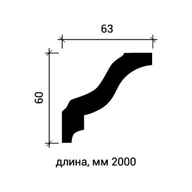 Потолочный плинтус Европласт 1.50.105 фото (3)