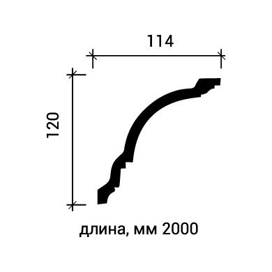 Потолочный плинтус Европласт 1.50.108 фото (3)