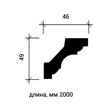 Потолочный плинтус Европласт 1.50.115 фото (3)