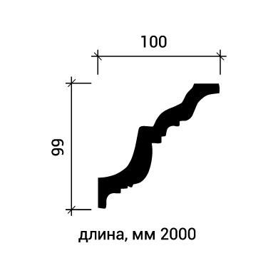 Потолочный плинтус Европласт 1.50.116 фото (3)