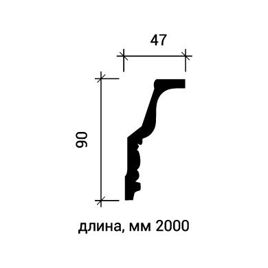 Потолочный плинтус Европласт 1.50.127 фото (3)