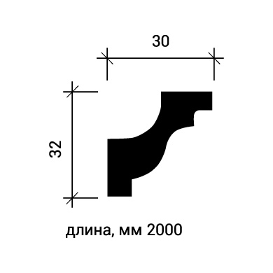 Потолочный плинтус Европласт 1.50.130 фото (3)