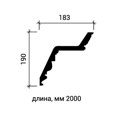 Потолочный плинтус Европласт 1.50.137 фото (3)