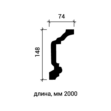 Потолочный плинтус Европласт 1.50.146 фото (3)