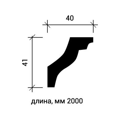 Потолочный плинтус Европласт 1.50.150 фото (3)