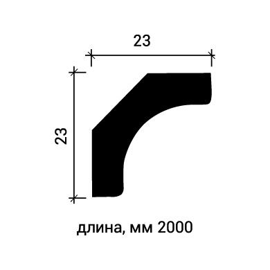 Потолочный плинтус Европласт 1.50.154 фото (3)