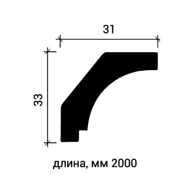 Потолочный плинтус Европласт 1.50.157 фото (3)