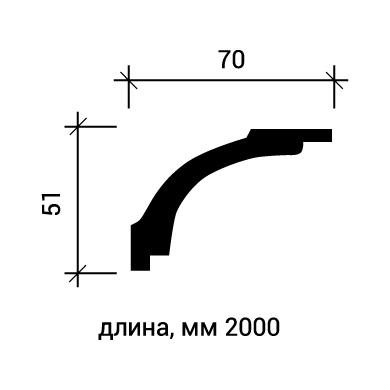 Потолочный плинтус Европласт 1.50.160 фото (3)
