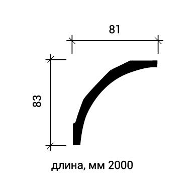 Потолочный плинтус Европласт 1.50.165 фото (3)