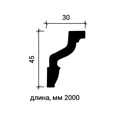 Потолочный плинтус Европласт 1.50.171 фото (3)