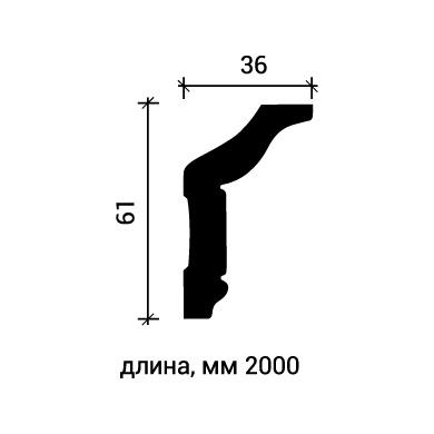 Потолочный плинтус Европласт 1.50.174 фото (3)