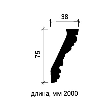 Потолочный плинтус Европласт 1.50.181 фото (3)