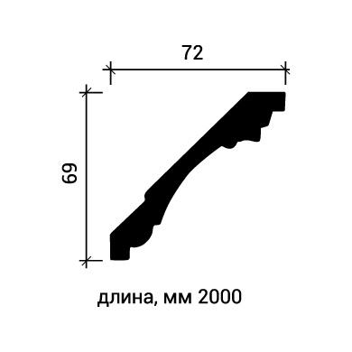 Потолочный плинтус Европласт 1.50.189 фото (3)