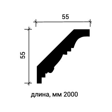 Потолочный плинтус Европласт 1.50.200 фото (3)