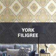 Обои York Filigree фото