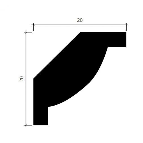 Потолочный плинтус Европласт 1.50.297 фотография