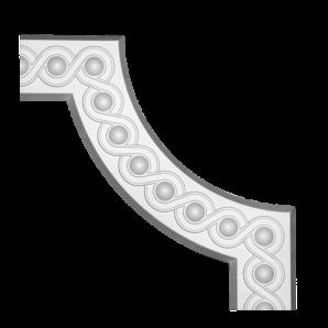 Угловой молдинг панели Европласт 1.52.376 фото