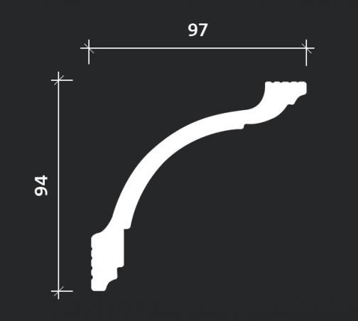 Потолочный плинтус Европласт 6.50.248 фотография